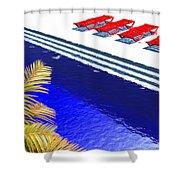 Pool Deck Shower Curtain