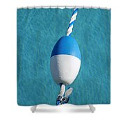 Pool In Blue Shower Curtain