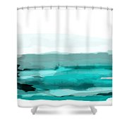 Pool Shower Curtain by KR Moehr
