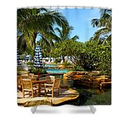 Pool Paradise Shower Curtain