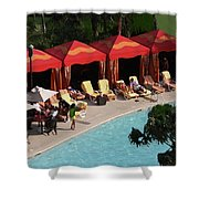 Pool Side Shower Curtain
