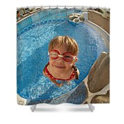 Pool Tester Shower Curtain