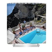 Pool View Shower Curtain