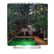 Pool With Tree Shower Curtain
