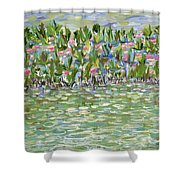 Pools Of Light Shower Curtain
