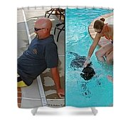 Poolside - Gently Cross Your Eyes And Focus On The Middle Image Shower Curtain