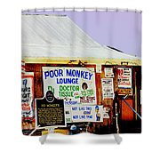 Poor Monkey's Juke Joint Shower Curtain