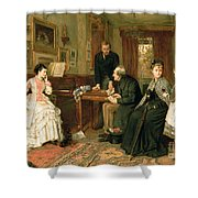 Poor Relations Shower Curtain by George Goodwin Kilburne