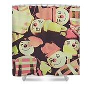 Pop Art Clown Circus Shower Curtain