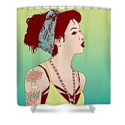 Pop Art Lady Shower Curtain