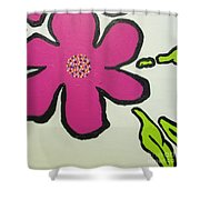 Pop Art Pansy Shower Curtain