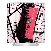 Pop Art Pillar Post Box Shower Curtain