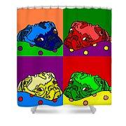 Pop Art Pug Shower Curtain