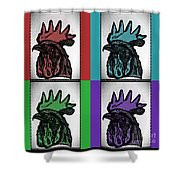 Pop Art Rooters Shower Curtain