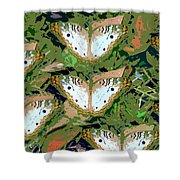 Pop Butterfly's Work Number Three Shower Curtain