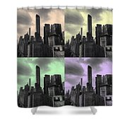 Pop City Shower Curtain