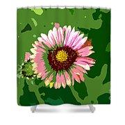 Pop Flower Work Number 23 Shower Curtain