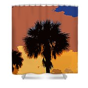 Pop Palms Shower Curtain