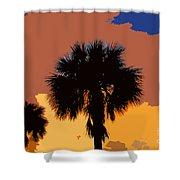 Pop Palms Shower Curtain