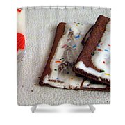 Pop Tarts And Milk Shower Curtain