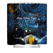 Pop Your Top By Lisa Kaiser Shower Curtain