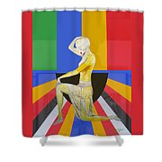 Popart Showgirl 2 Shower Curtain
