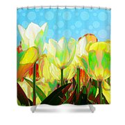 Popart Tulips Shower Curtain