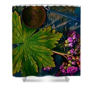 Popart With Fantasy Flowers Shower Curtain