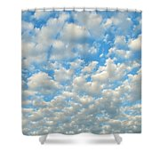 Popcorn Clouds Shower Curtain