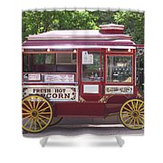 Popcorn Wagon Shower Curtain