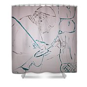 Pope Francis Praying Shower Curtain