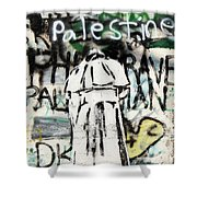 Pope Free Palestine Shower Curtain