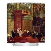 Pope Pius Vii Luigi Barnaba Chiaramonti Attending Chapel 1820 Shower Curtain