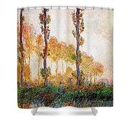 Poplars, Autumn Shower Curtain