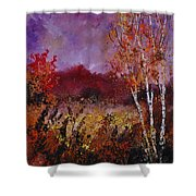 Poplars In Autumn  Shower Curtain