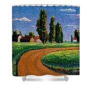 Poplars Shower Curtain