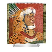 Popoca Illustration Shower Curtain