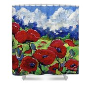 Poppies 003 Shower Curtain
