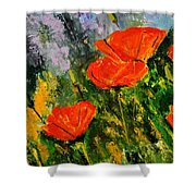 Poppies 107 Shower Curtain