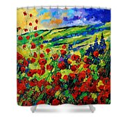 Poppies 78 Shower Curtain