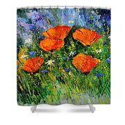 Poppies 79 Shower Curtain