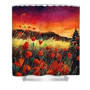 Poppies At Sunset 67 Shower Curtain