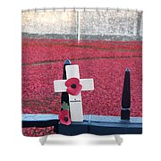 Poppies At Tower Of London Shower Curtain