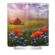 Poppies In A Dream Shower Curtain