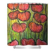 Poppies In Oil Shower Curtain