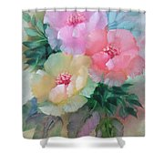 Poppies In Pastel Colors Shower Curtain