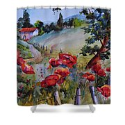 Poppies In The Field Shower Curtain
