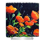 Poppies In The Light Shower Curtain