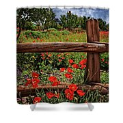 Poppies In The Texas Hill Country Shower Curtain