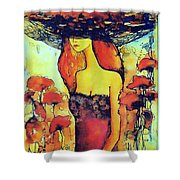 Poppies Lady Shower Curtain
